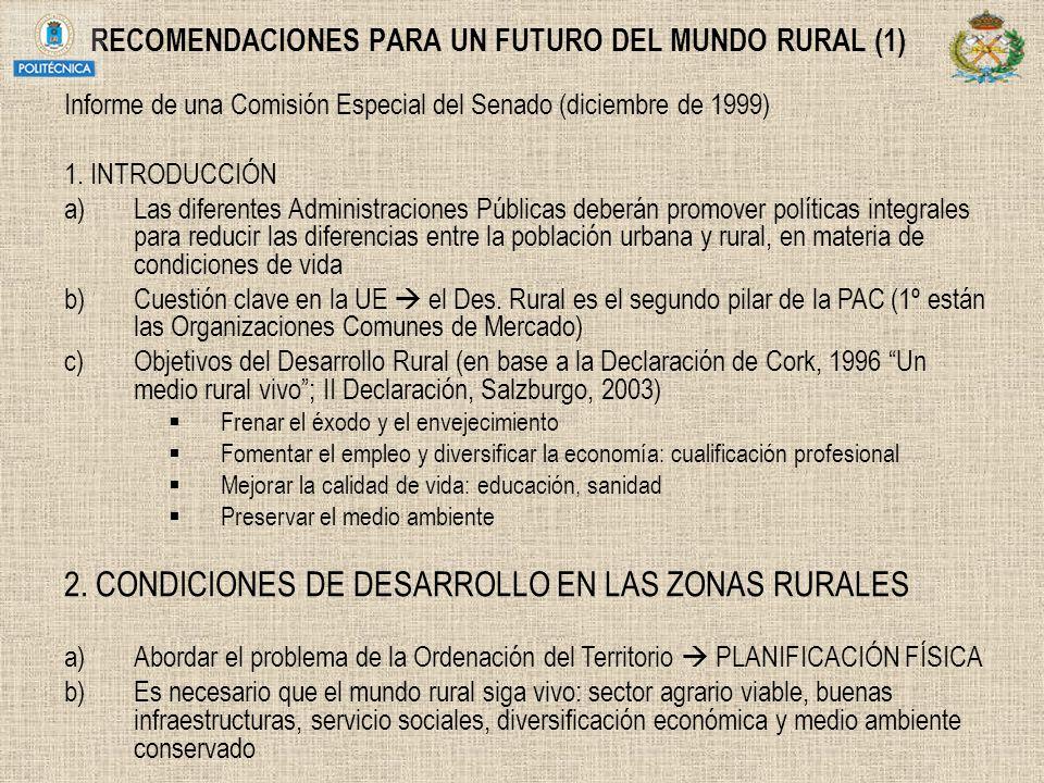RECOMENDACIONES PARA UN FUTURO DEL MUNDO RURAL (1)