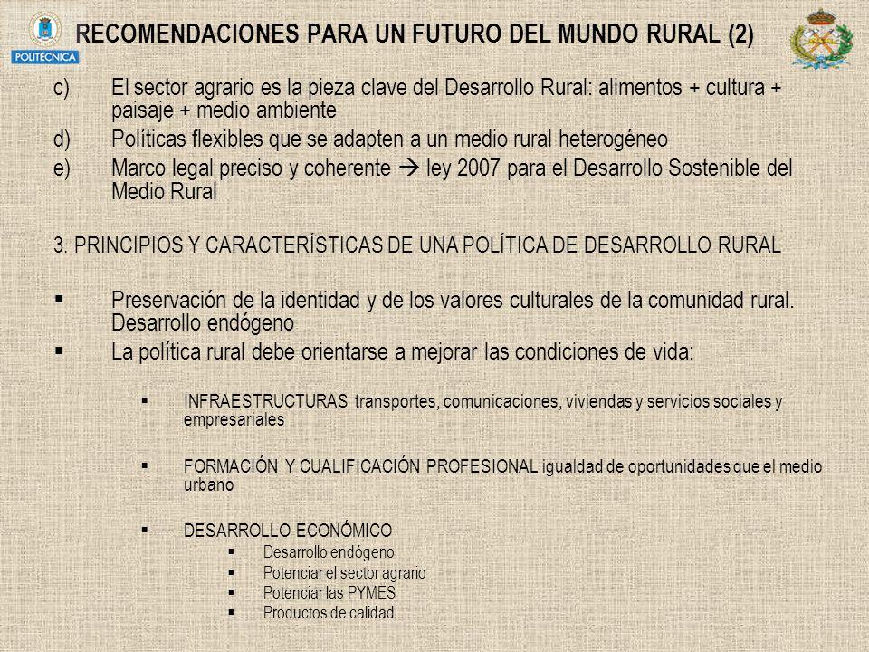 RECOMENDACIONES PARA UN FUTURO DEL MUNDO RURAL (2)