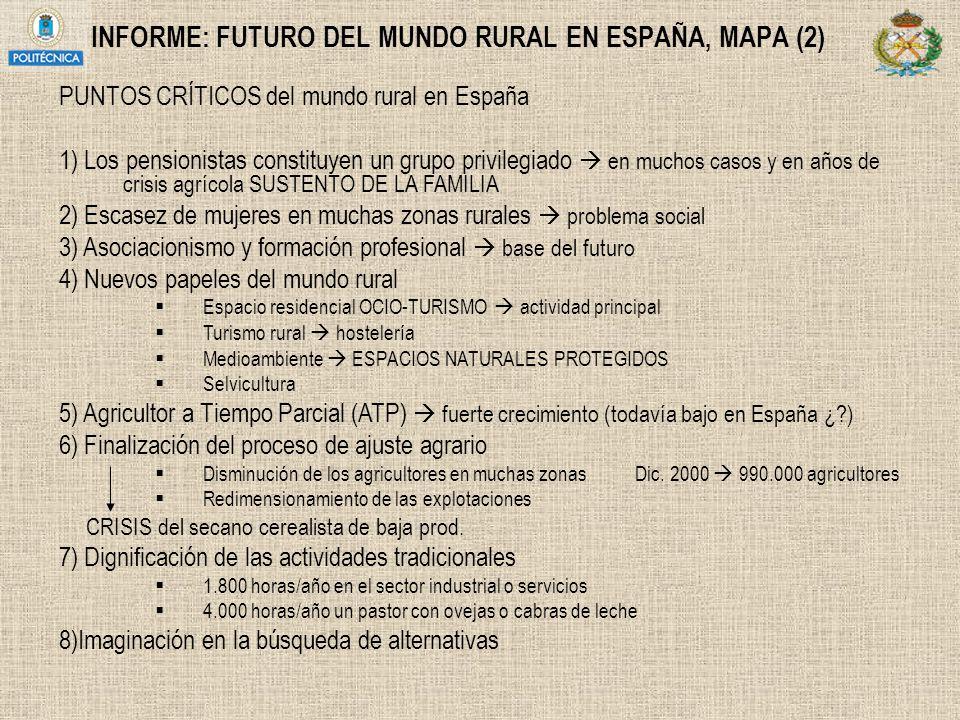 INFORME: FUTURO DEL MUNDO RURAL EN ESPAÑA, MAPA (2)