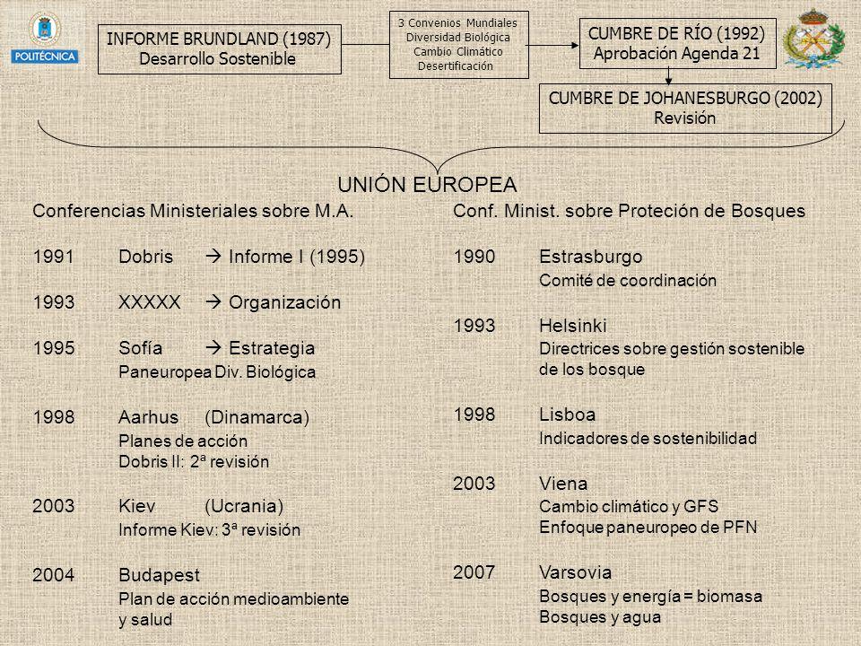 UNIÓN EUROPEA Conferencias Ministeriales sobre M.A.