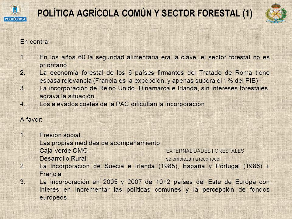 POLÍTICA AGRÍCOLA COMÚN Y SECTOR FORESTAL (1)