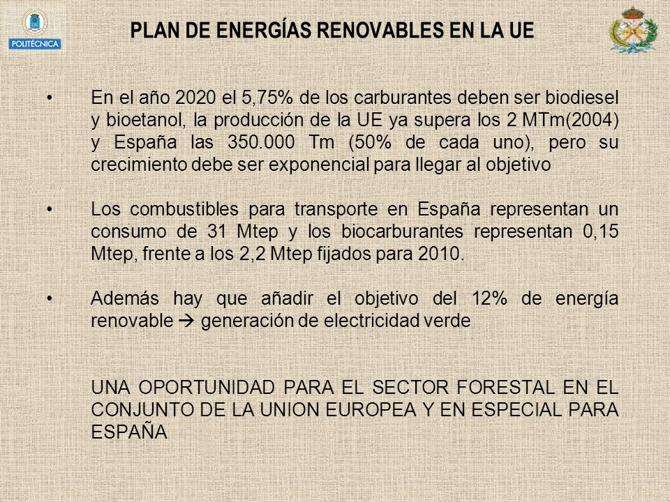 PLAN DE ENERGÍAS RENOVABLES EN LA UE