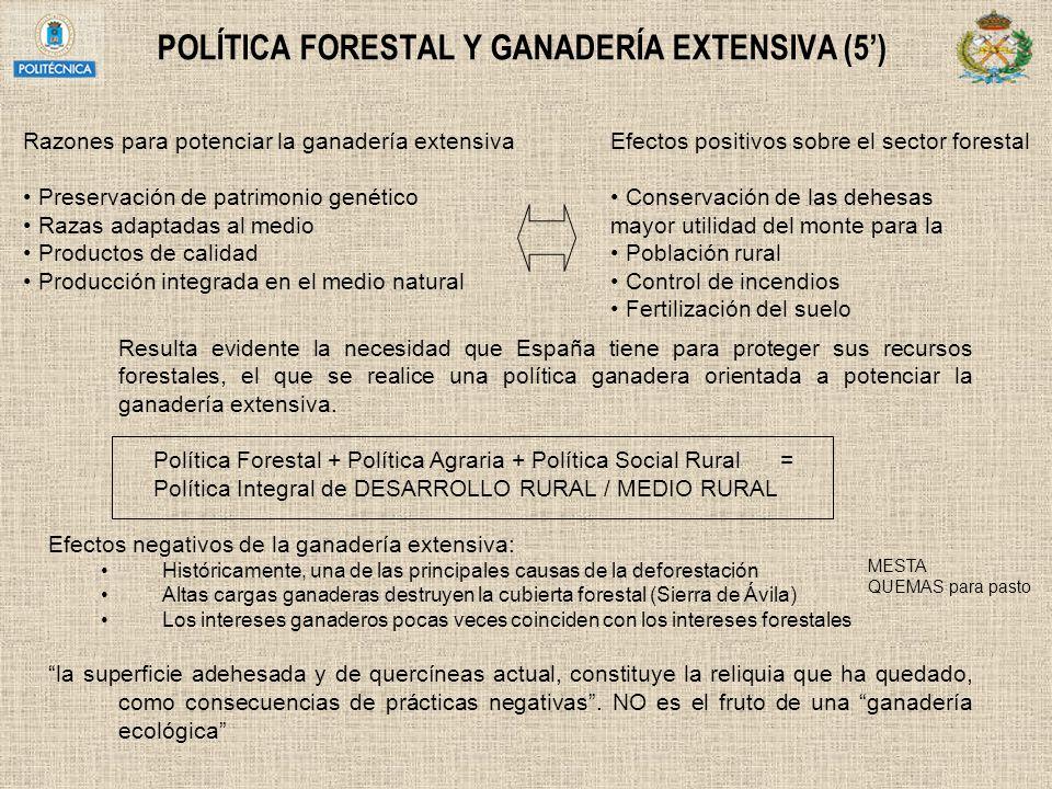 POLÍTICA FORESTAL Y GANADERÍA EXTENSIVA (5')