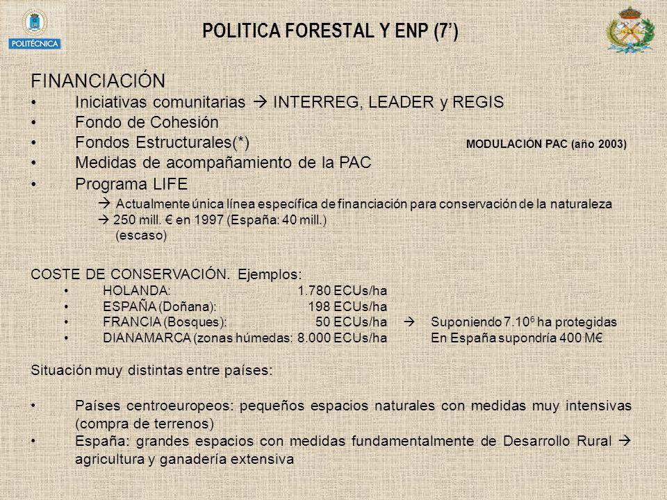 POLITICA FORESTAL Y ENP (7')