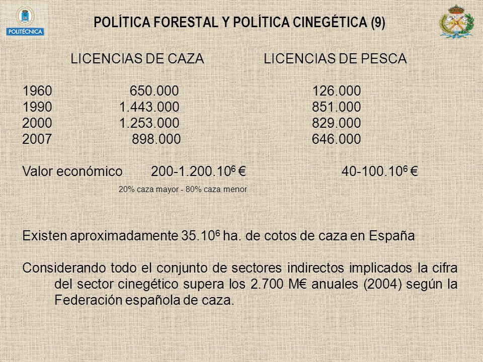 POLÍTICA FORESTAL Y POLÍTICA CINEGÉTICA (9)