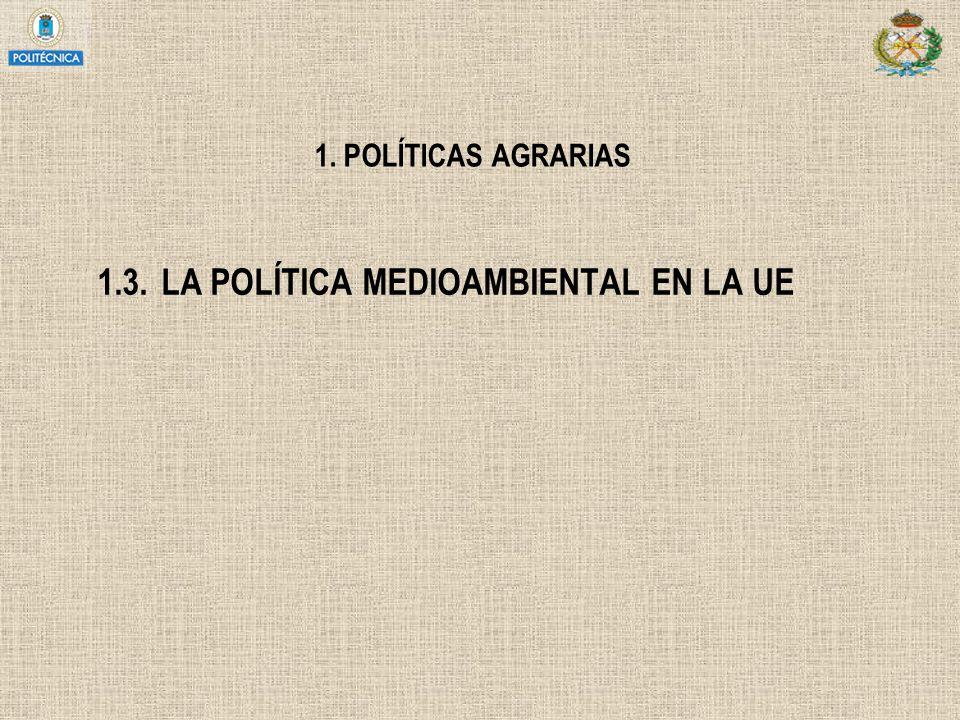1.3. LA POLÍTICA MEDIOAMBIENTAL EN LA UE