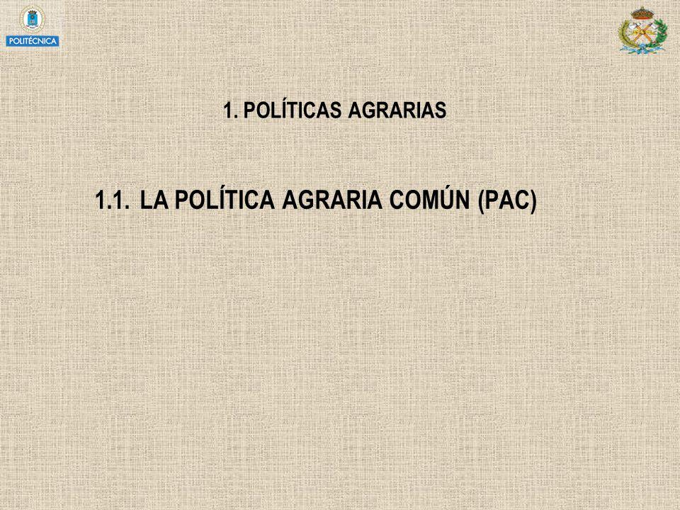 1.1. LA POLÍTICA AGRARIA COMÚN (PAC)