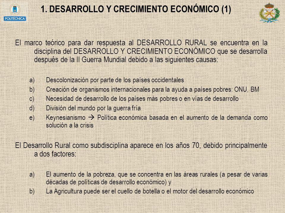 1. DESARROLLO Y CRECIMIENTO ECONÓMICO (1)