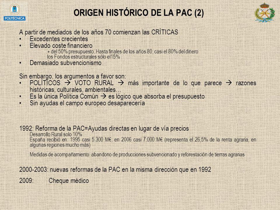 ORIGEN HISTÓRICO DE LA PAC (2)