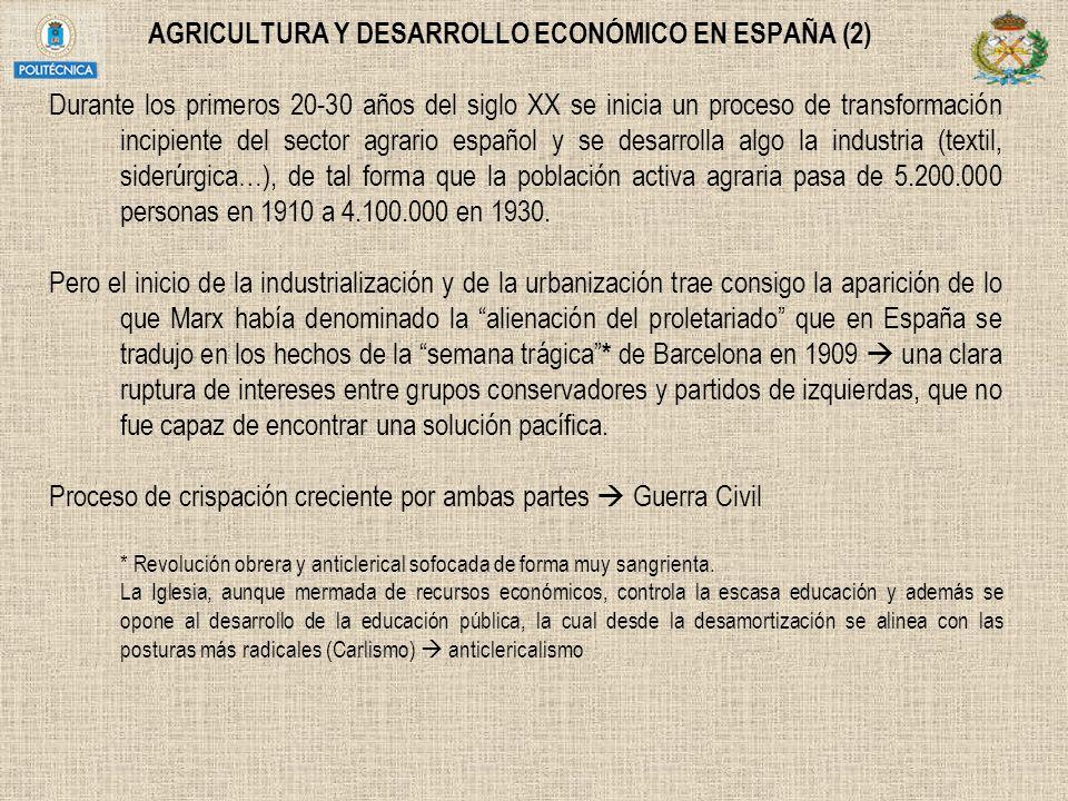 AGRICULTURA Y DESARROLLO ECONÓMICO EN ESPAÑA (2)