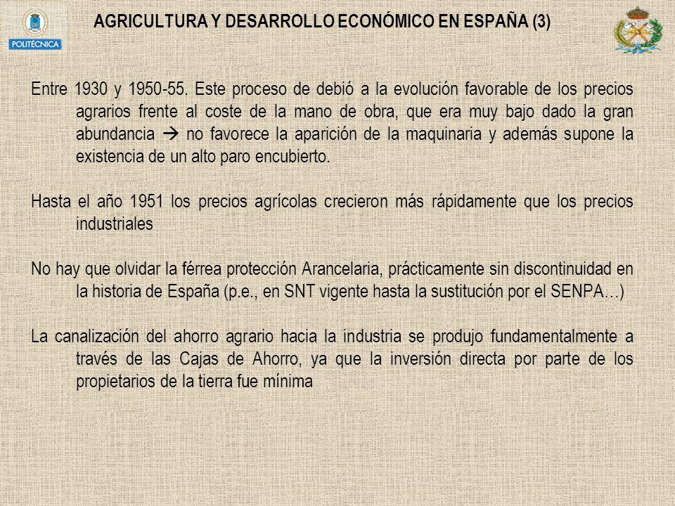 AGRICULTURA Y DESARROLLO ECONÓMICO EN ESPAÑA (3)