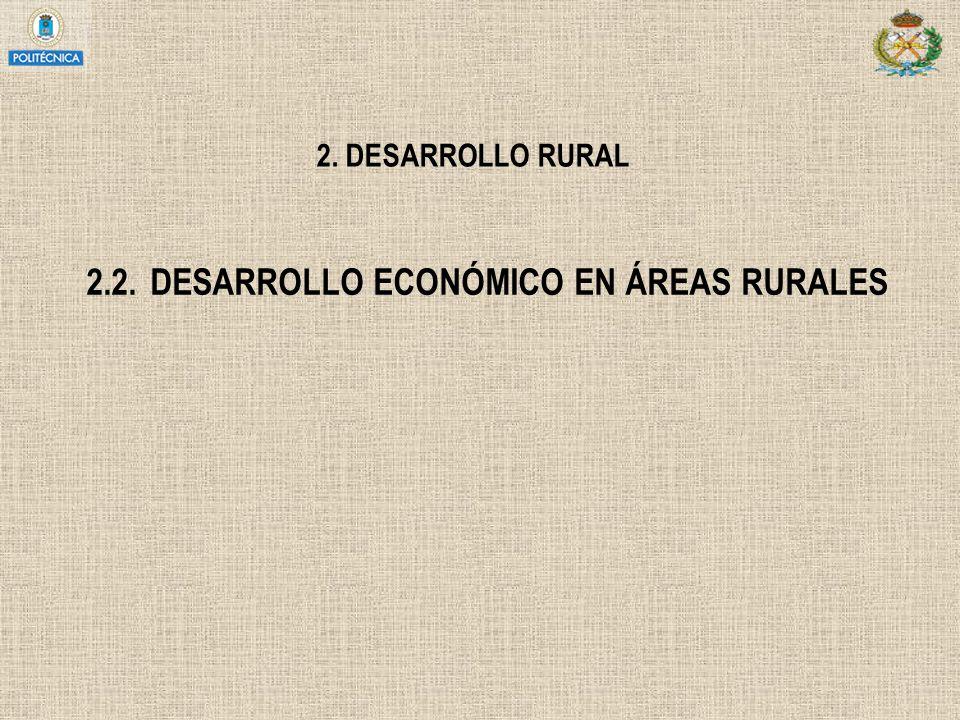 2.2. DESARROLLO ECONÓMICO EN ÁREAS RURALES