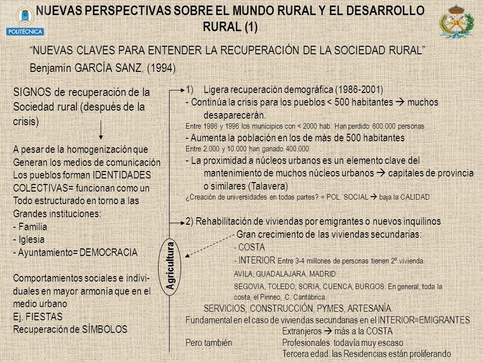 NUEVAS PERSPECTIVAS SOBRE EL MUNDO RURAL Y EL DESARROLLO RURAL (1)