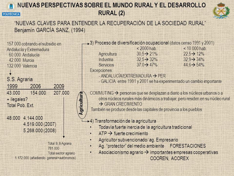 NUEVAS PERSPECTIVAS SOBRE EL MUNDO RURAL Y EL DESARROLLO RURAL (2)