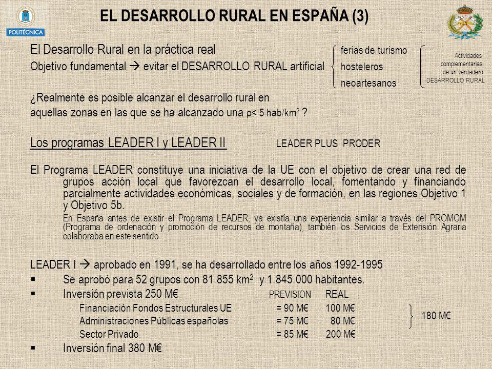 EL DESARROLLO RURAL EN ESPAÑA (3)