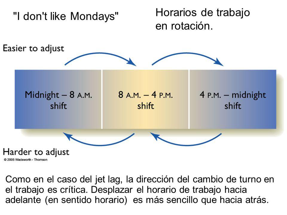 Horarios de trabajo I don t like Mondays en rotación.