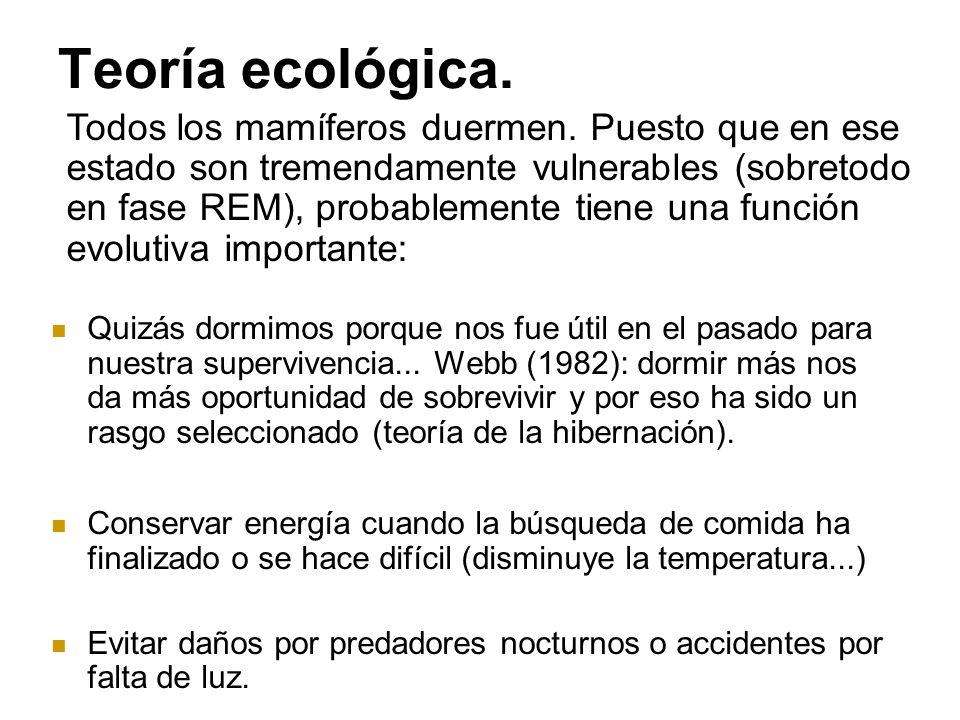 Teoría ecológica.
