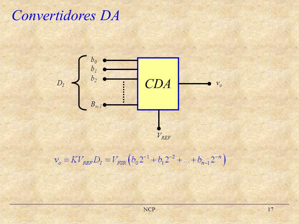 Convertidores DA CDA b0 b1 b2 Bn-1 vo DI VREF NCP