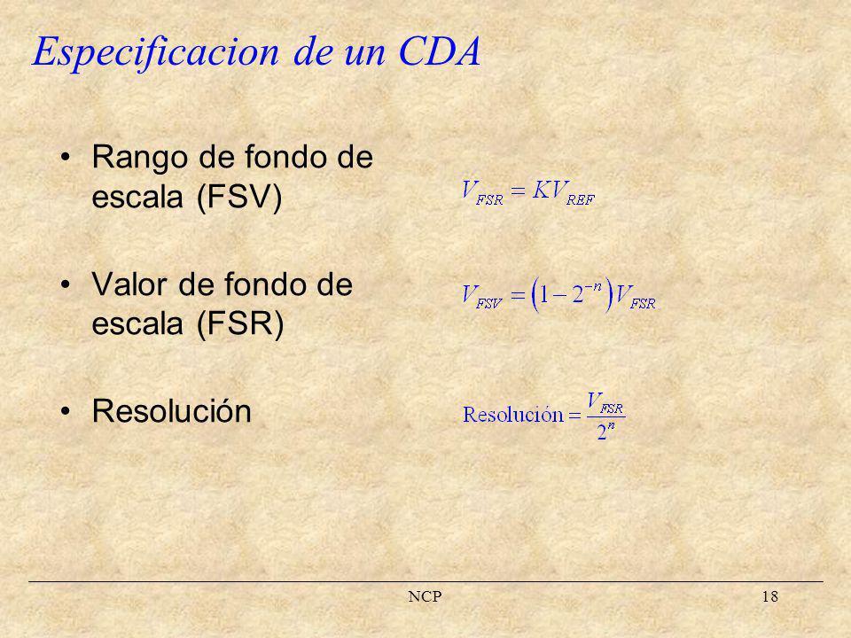 Especificacion de un CDA