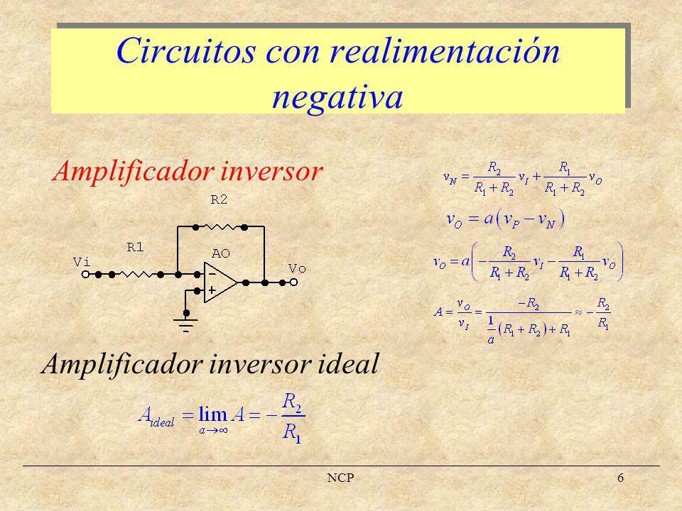 Circuitos con realimentación negativa