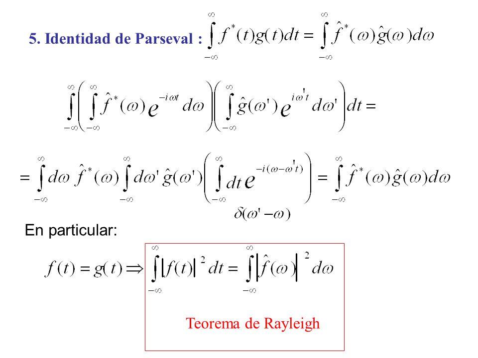 5. Identidad de Parseval :