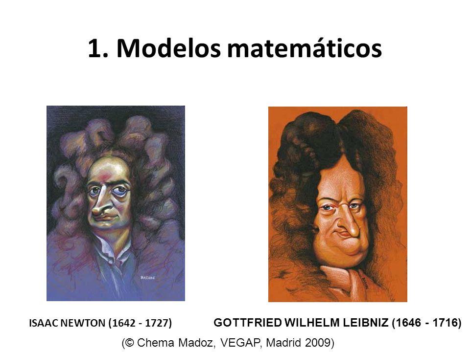 1. Modelos matemáticos ISAAC NEWTON (1642 - 1727)
