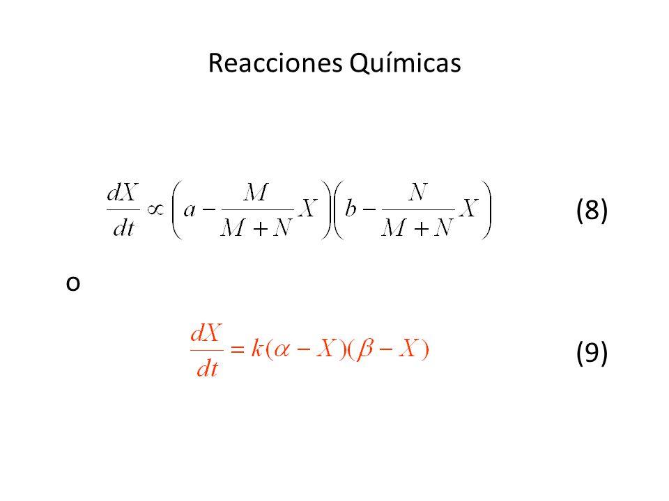 Reacciones Químicas (8) o (9)