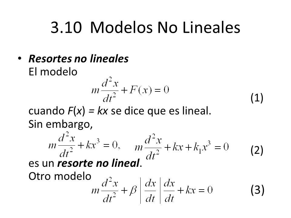 3.10 Modelos No Lineales