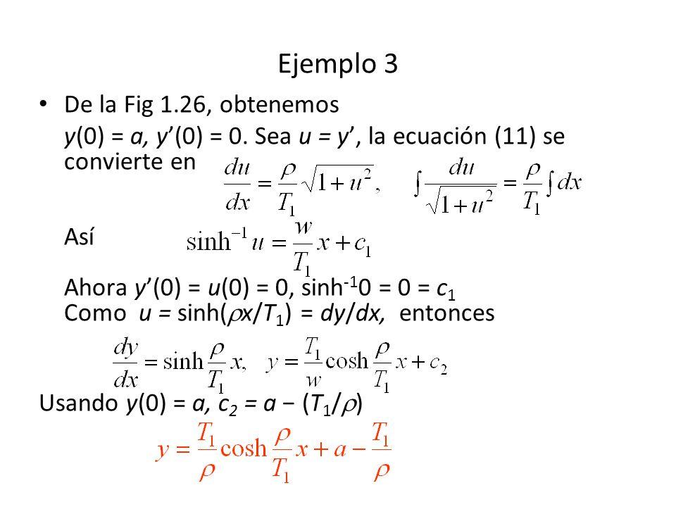 Ejemplo 3 De la Fig 1.26, obtenemos