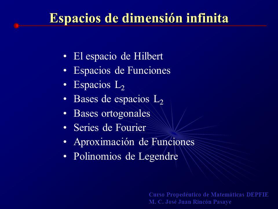 Espacios de dimensión infinita