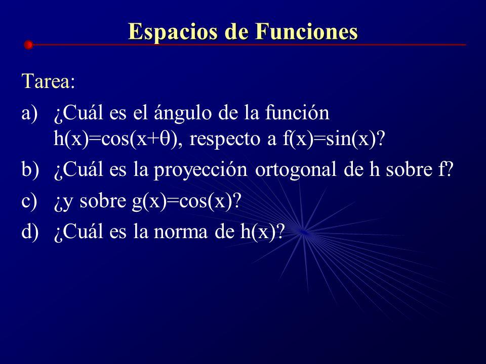 Espacios de Funciones Tarea: