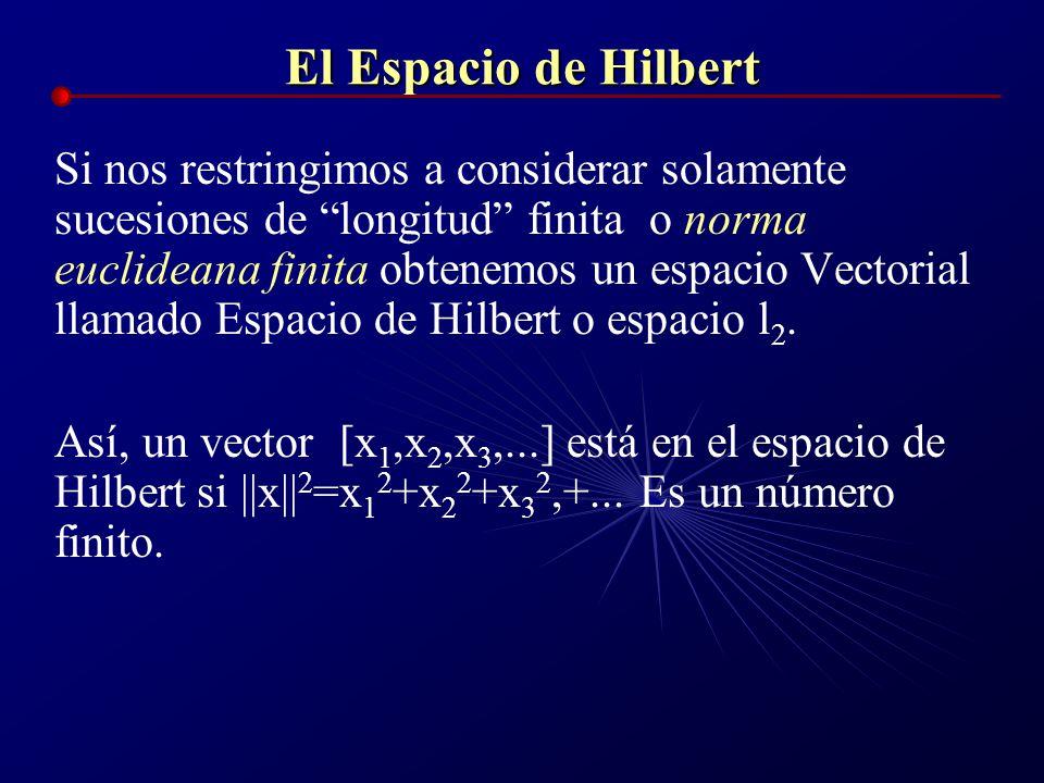 El Espacio de Hilbert