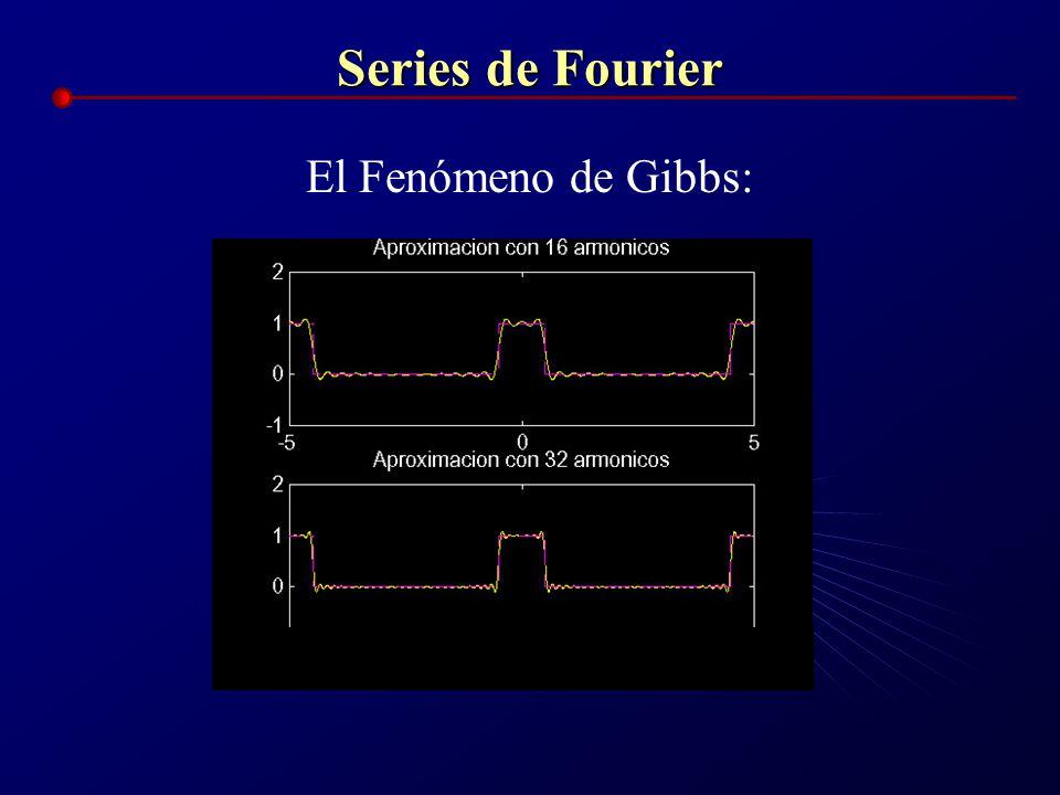Series de Fourier El Fenómeno de Gibbs: