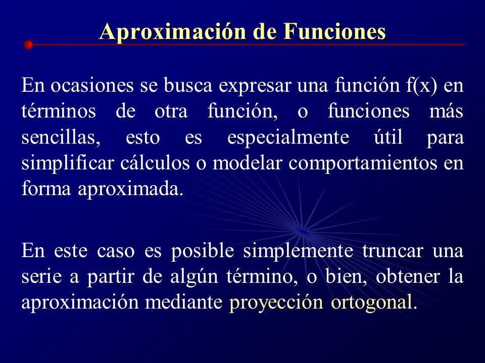 Aproximación de Funciones