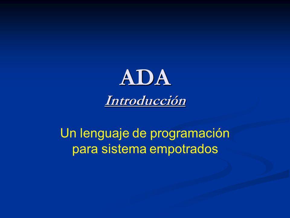 Un lenguaje de programación para sistema empotrados