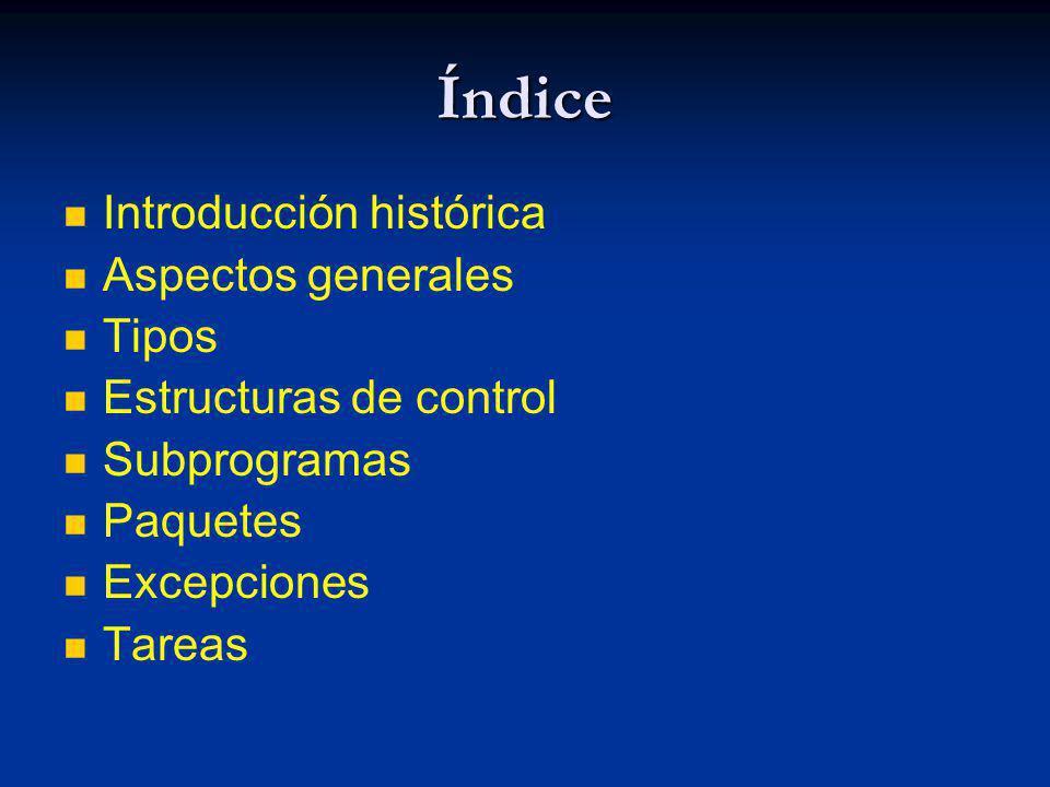 Índice Introducción histórica Aspectos generales Tipos