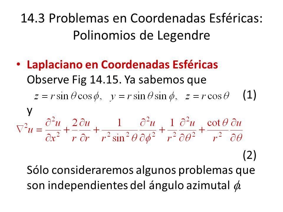 14.3 Problemas en Coordenadas Esféricas: Polinomios de Legendre