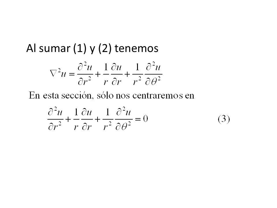 Al sumar (1) y (2) tenemos