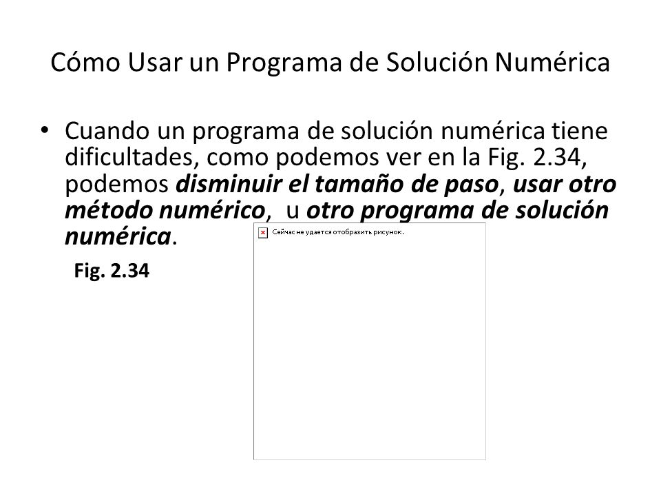 Cómo Usar un Programa de Solución Numérica