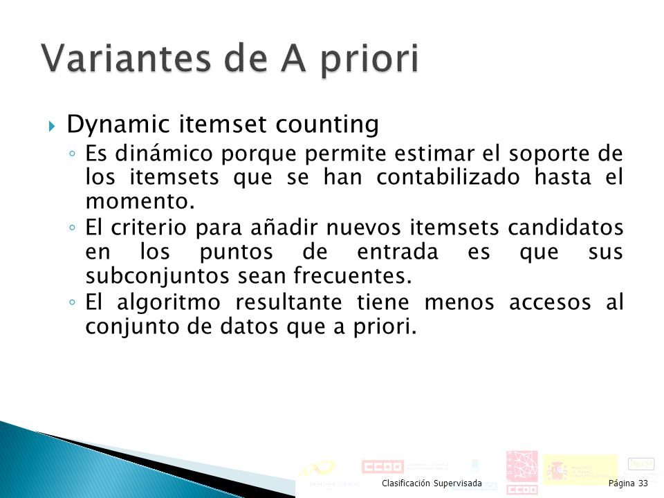Variantes de A priori Dynamic itemset counting