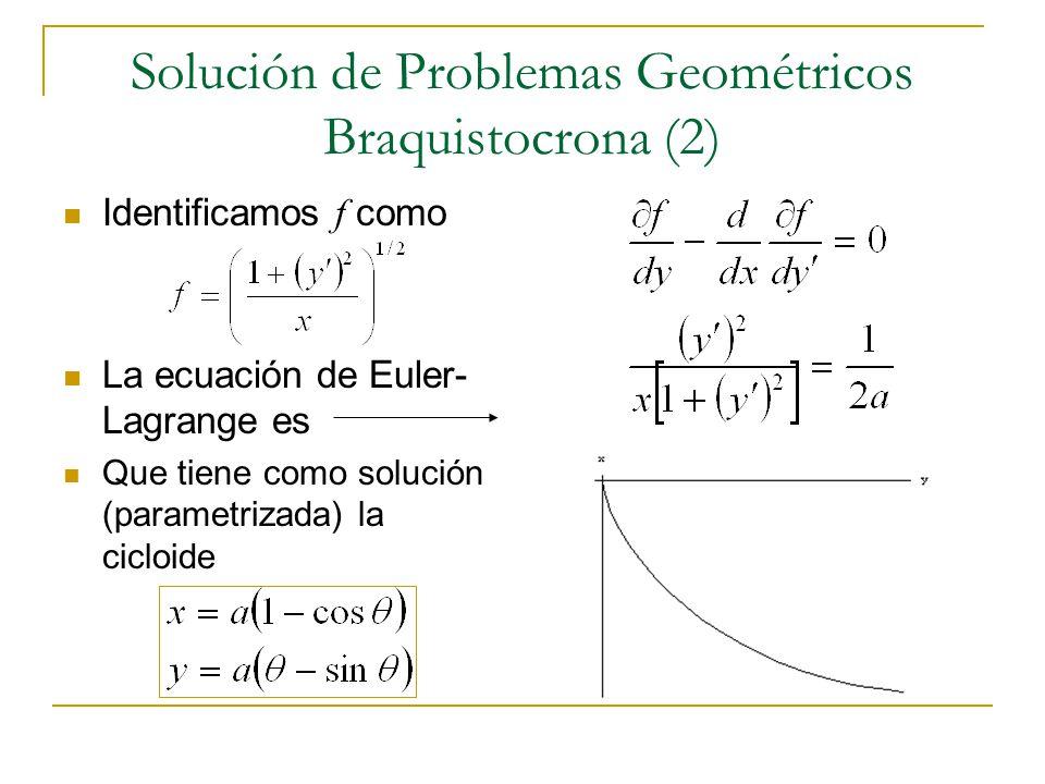 Solución de Problemas Geométricos Braquistocrona (2)