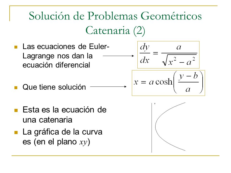 Solución de Problemas Geométricos Catenaria (2)