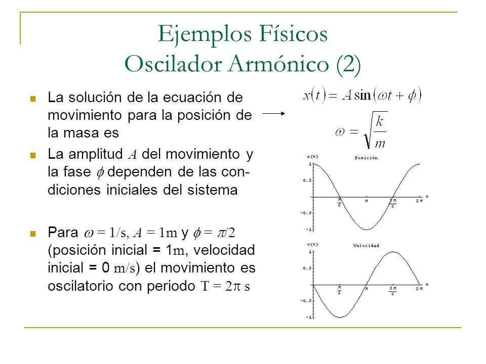 Ejemplos Físicos Oscilador Armónico (2)