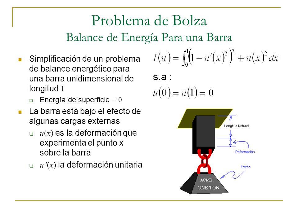 Problema de Bolza Balance de Energía Para una Barra