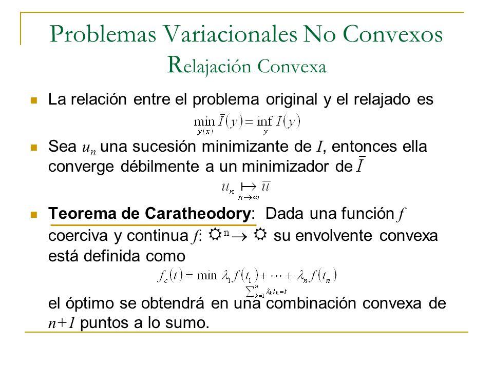 Problemas Variacionales No Convexos Relajación Convexa