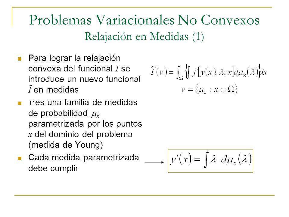 Problemas Variacionales No Convexos Relajación en Medidas (1)