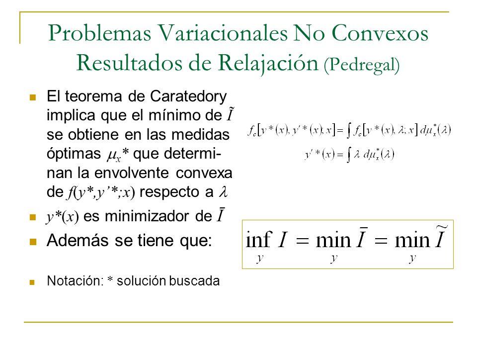 Problemas Variacionales No Convexos Resultados de Relajación (Pedregal)