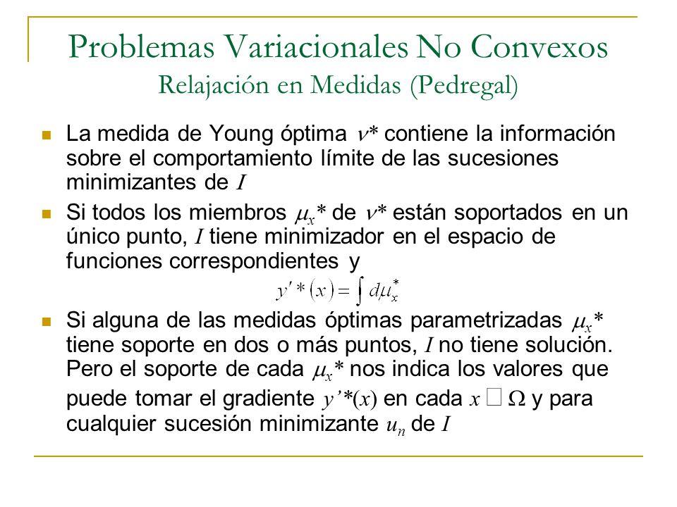 Problemas Variacionales No Convexos Relajación en Medidas (Pedregal)