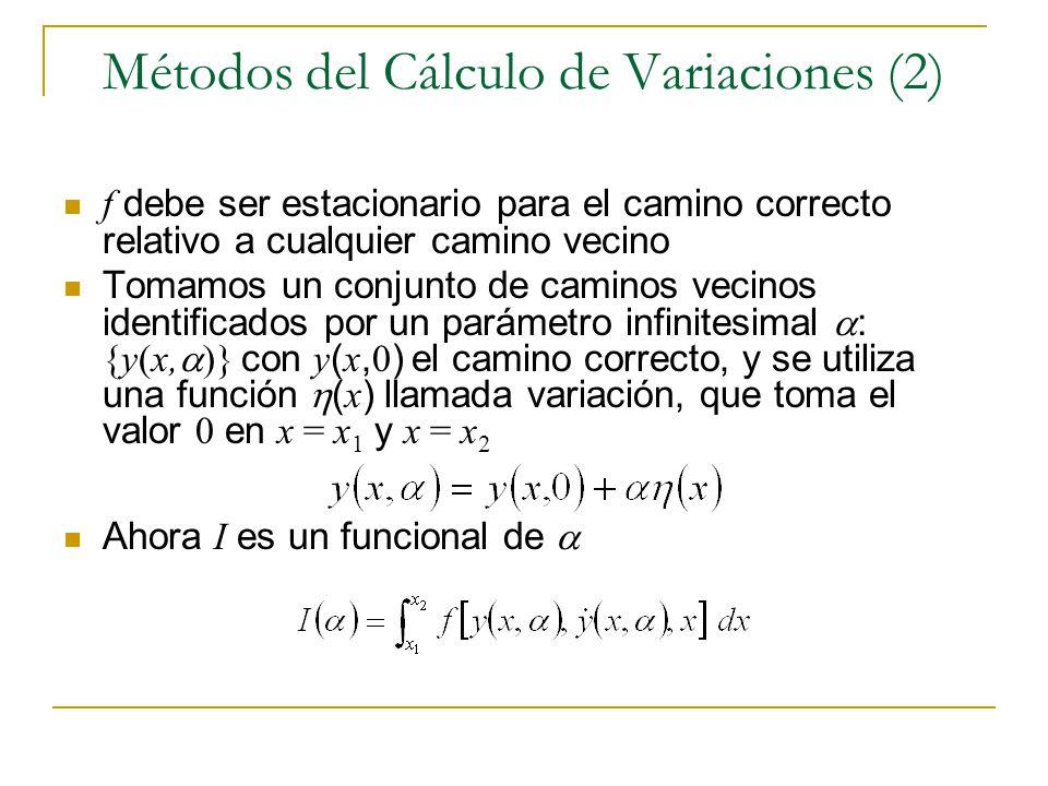 Métodos del Cálculo de Variaciones (2)
