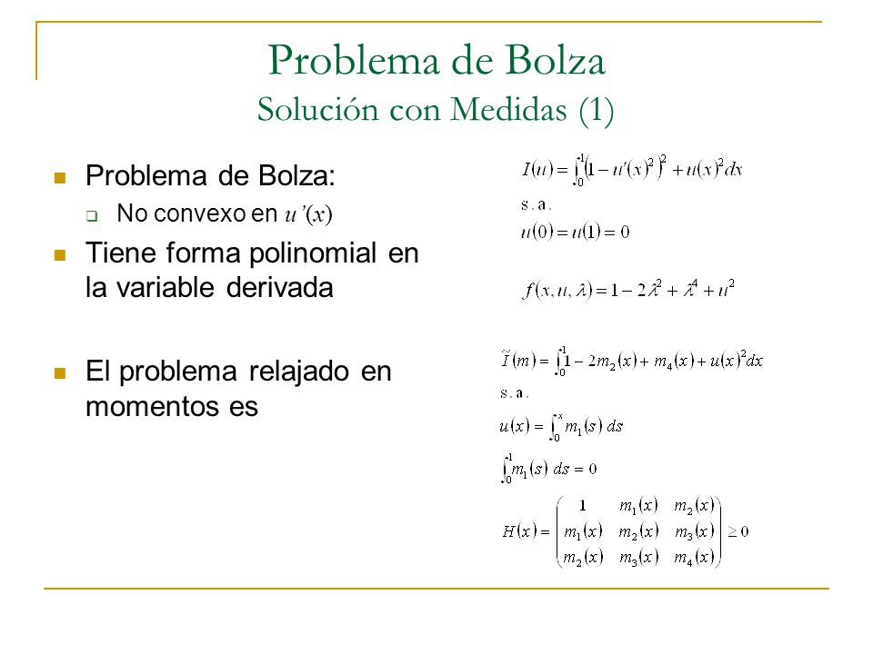 Problema de Bolza Solución con Medidas (1)